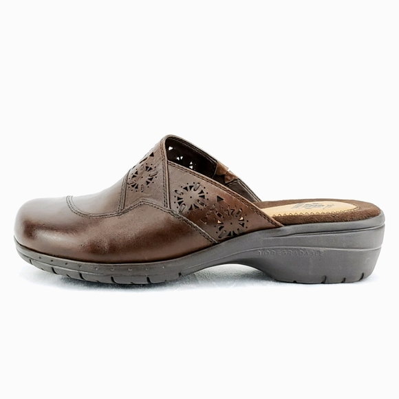 Earth Origins Biodegradable Brown Leather Mules